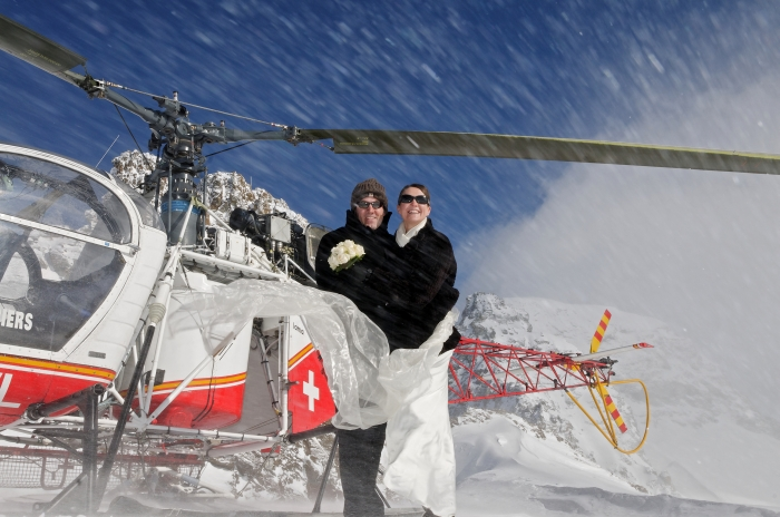 Ski and Helicopter Adventure wedding