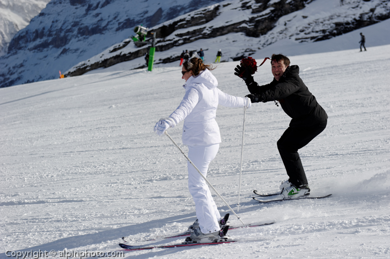 Winter  Ski Wedding Grindelwald