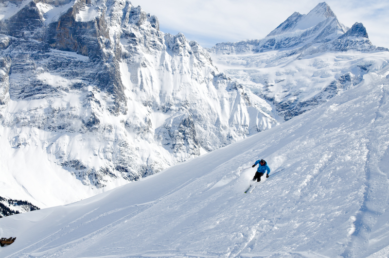 ski guiding at the kleine scheidegg, Grindelwald First and Maennlichen