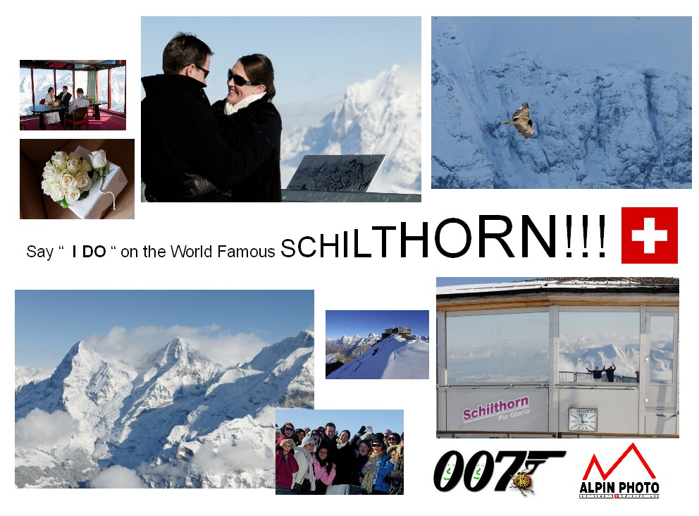 007 Wedding on the Schilthorn Switzerland