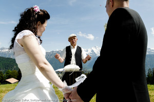 elope for your wedding in the Swiss alps