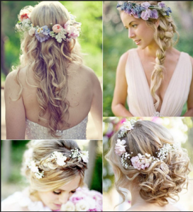 hair styles for bohemian wedding