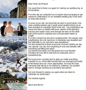 Marry in Switzeraland