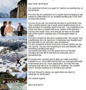 Marry in Switzeraland