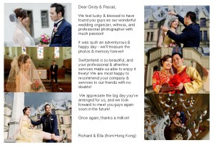 compliments from wedding couples