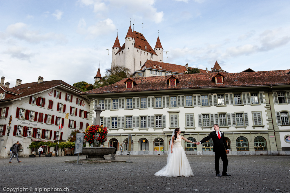 Symbolic wedding in Thun