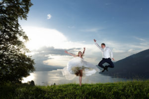 sun set Interlaken wedding photos