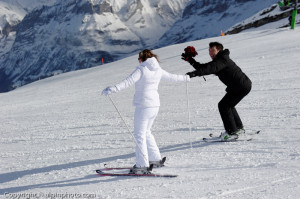 ski winter wedding Switzerland