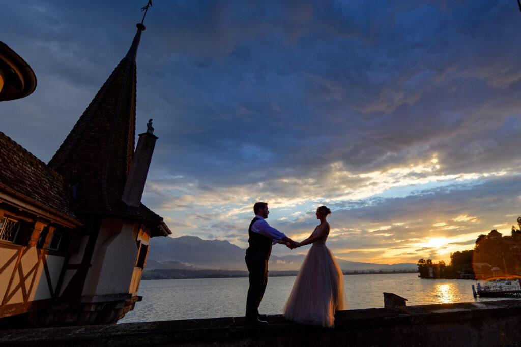 castle elopement switzerland