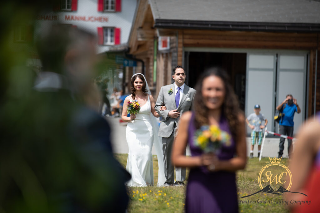 Switzerland Swiss Alps Outdoor Wedding