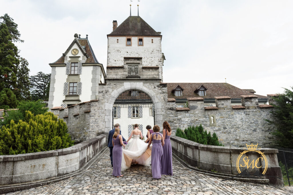 Swiss Alps and castle Wedding