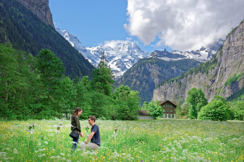 Lauterbrunnen Wedding proposal
