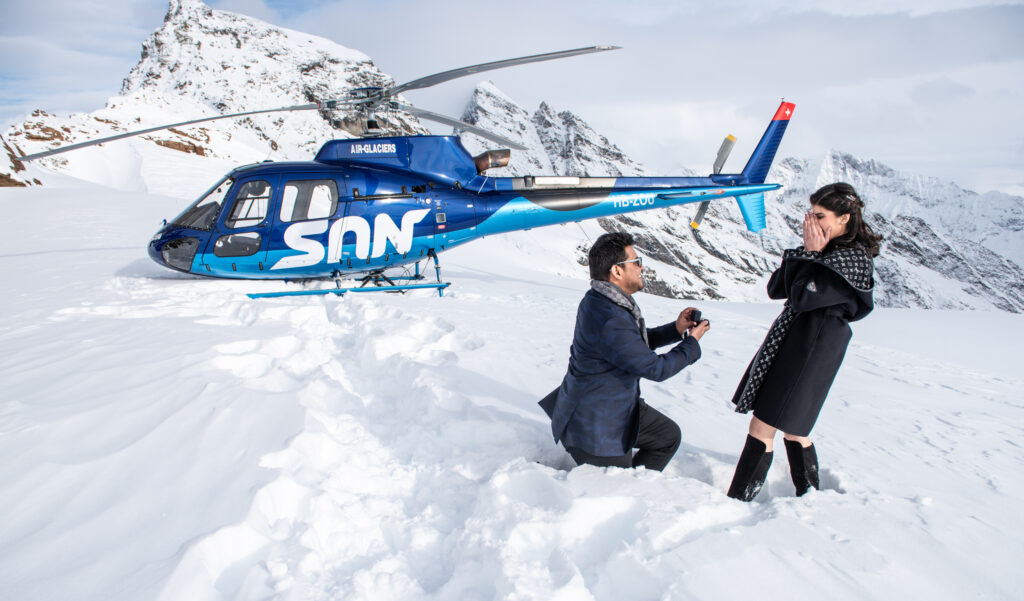 helicopter wedding proposal