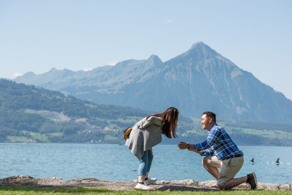 wedding proposal photographer Interlaken