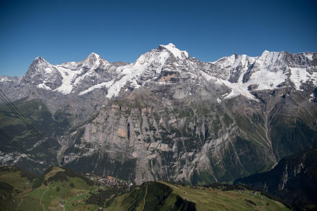 Muerren tourist destination in Switzerland